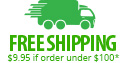 Free shipping (minimum order $100)