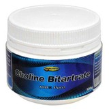 100% Pure Choline Bitartrate 100g