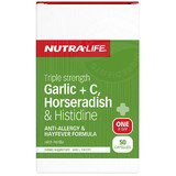 Triple Strength Garlic + C, Horseradish & Histidine 50 caps